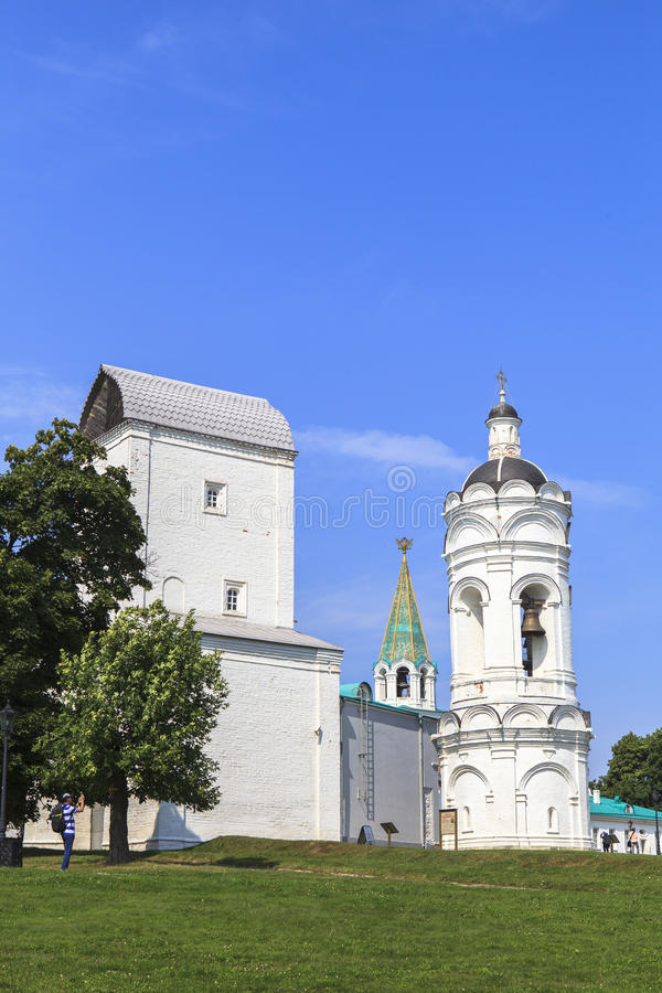 Kolomenskoe kyrka i Moskva arkivbild