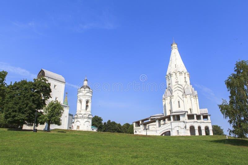 Kolomenskoe kyrka i Moskva royaltyfri bild