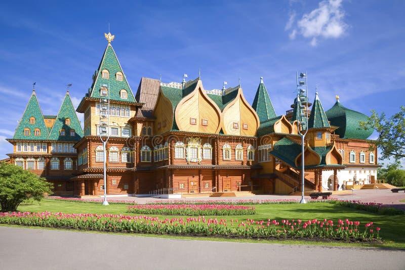 Kolomenskoye Дворец царя Alexei Mikhailovich стоковая фотография rf