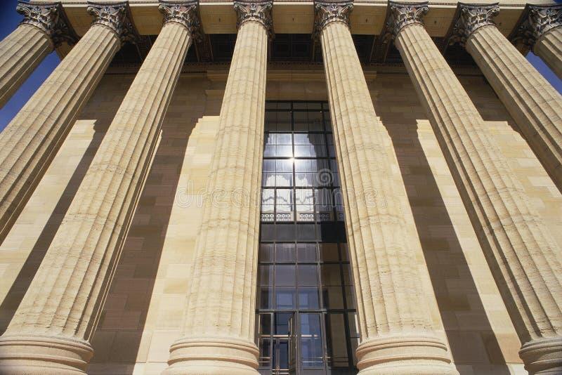 Kolommen bij het Museum van Philadelphia van Art. stock fotografie