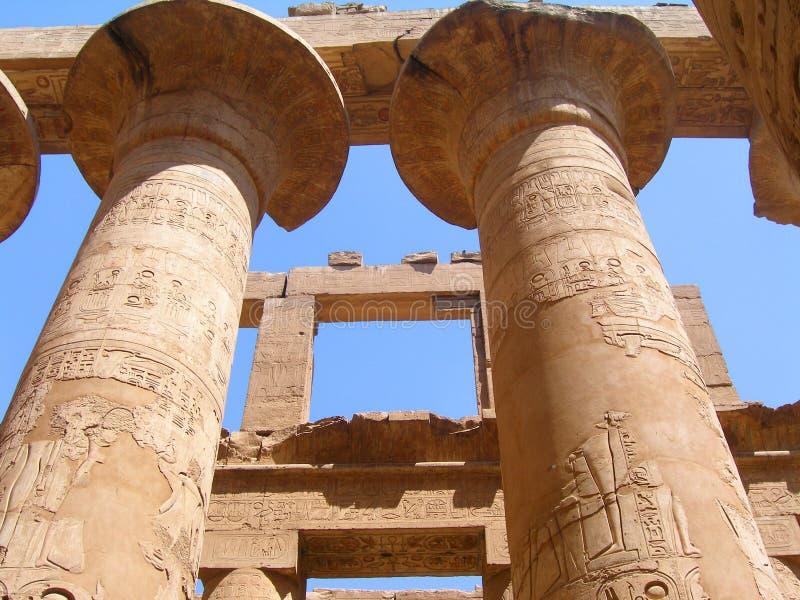 kolommen in Egypte. royalty-vrije stock foto's