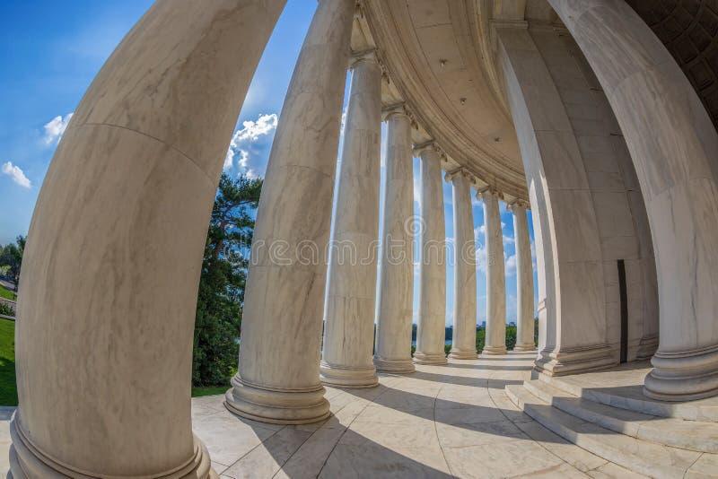 Kolommen in Thomas Jefferson Memorial, Washington DC, de V.S. royalty-vrije stock fotografie