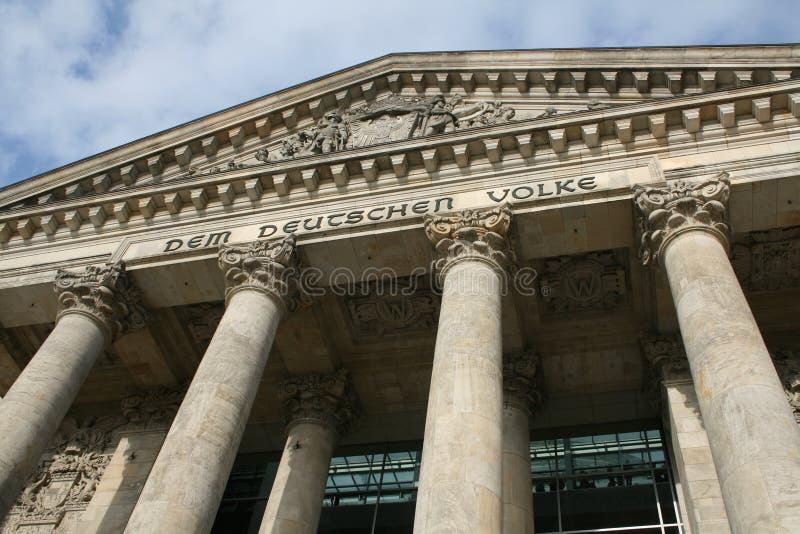 Kolommen van het Duitse Parlement stock afbeeldingen