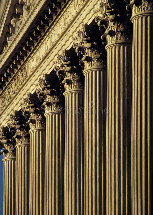 Kolommen van Rechtvaardigheid royalty-vrije stock afbeeldingen