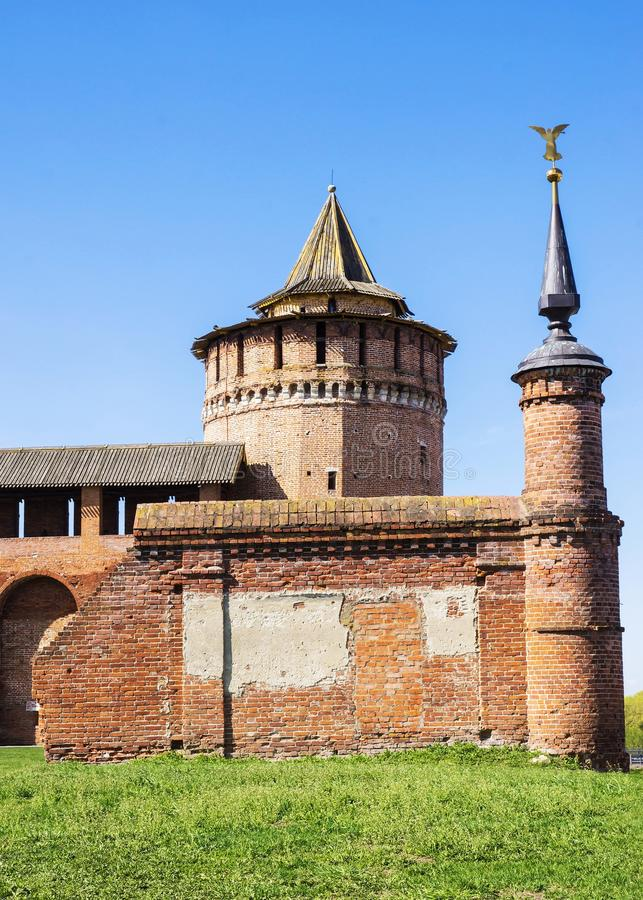 Kolomna克里姆林宫,俄罗斯的建筑复合体 免版税库存图片