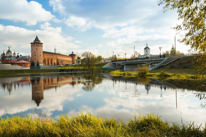 Kolomna, región de Moscú Torre de Marinkin del Kremlin y de la iglesia de fotografía de archivo libre de regalías