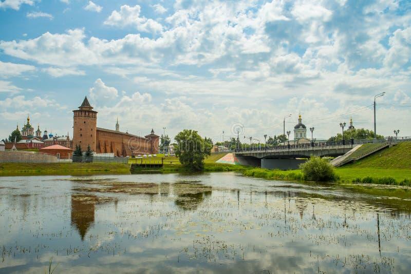 Kolomna, Rusia Hermosa vista en Marinkina de la torre de Kolomna imágenes de archivo libres de regalías