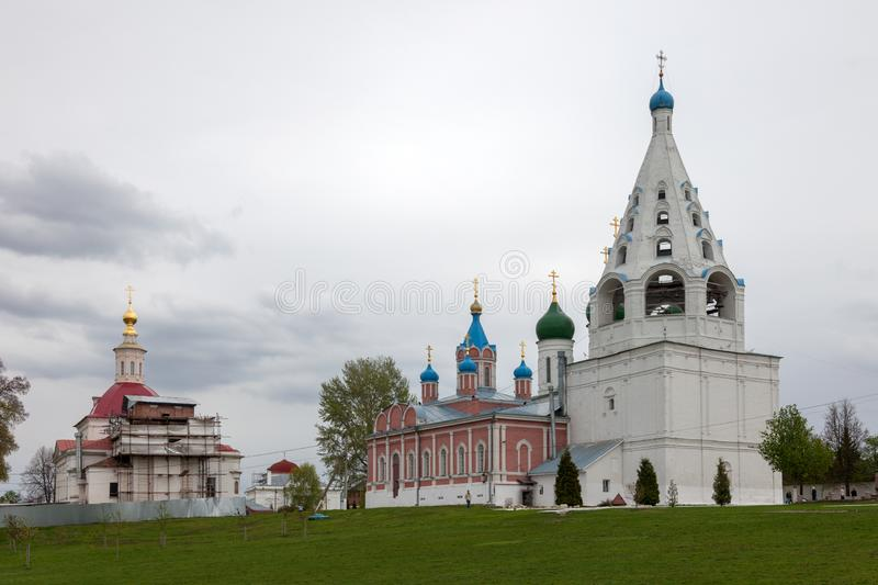 The architectural ensemble of the Cathedral Square in the Kolomna Kremlin. royalty free stock images