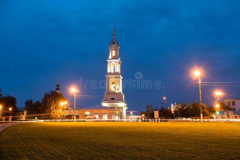 Kolomna, Russland Kirche von John Theologian On Under Blue-Himmel von lizenzfreies stockbild