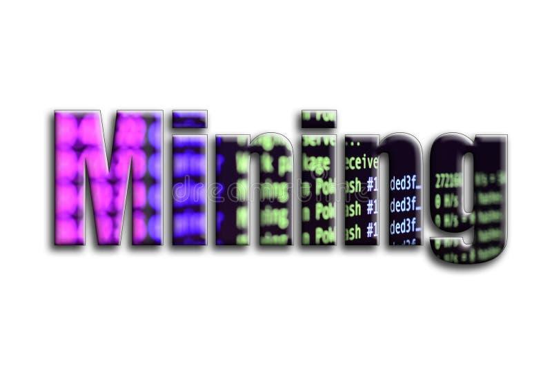kolonel Inskrypcja teksturę fotografia która przedstawia cryptocurrency oprogramowania górniczego ekran, ilustracji