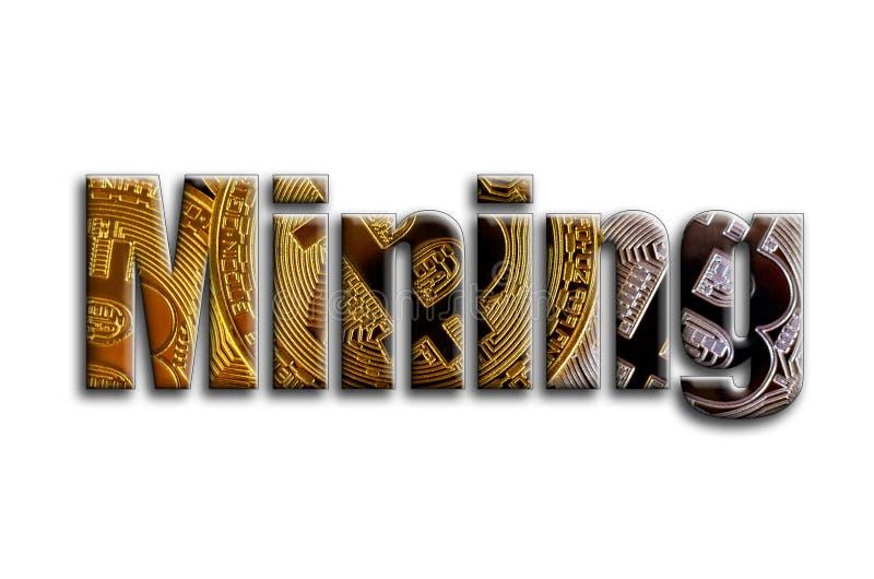 kolonel Inskrypcja teksturę fotografia która przedstawia kilka bitcoins, royalty ilustracja