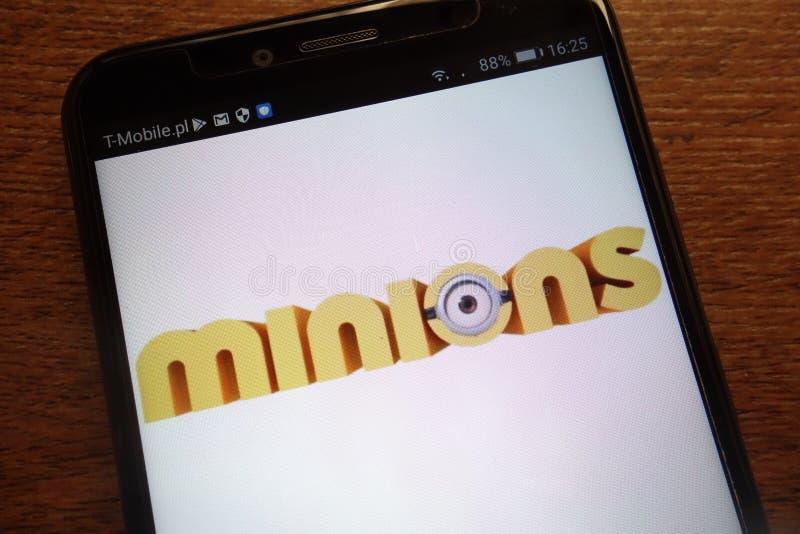 Kolonelu logo wystawiający na nowożytnym smartphone obraz stock