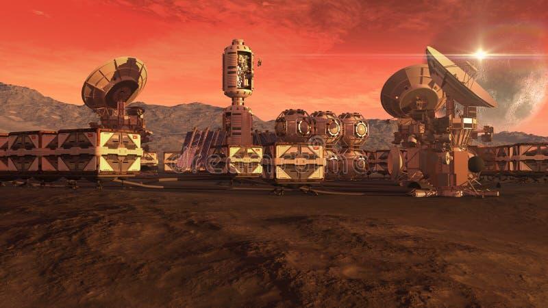 Kolonia na czerwonej planecie ilustracji