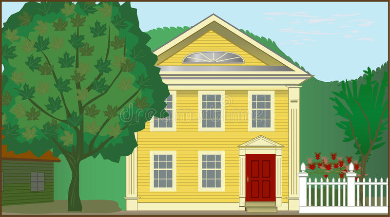 Koloniaal Huis vector illustratie