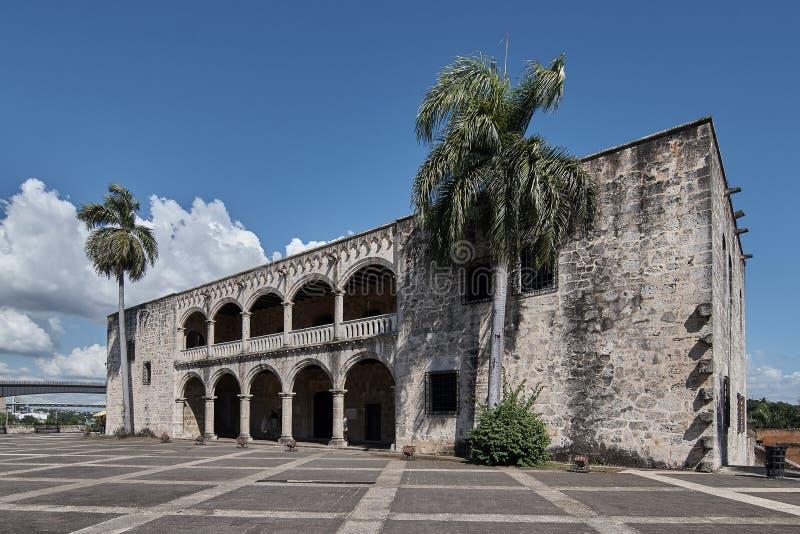 Koloniaal huis van de zoon van Christopher Columbus Santo Domingo Dominican Republic stock foto's