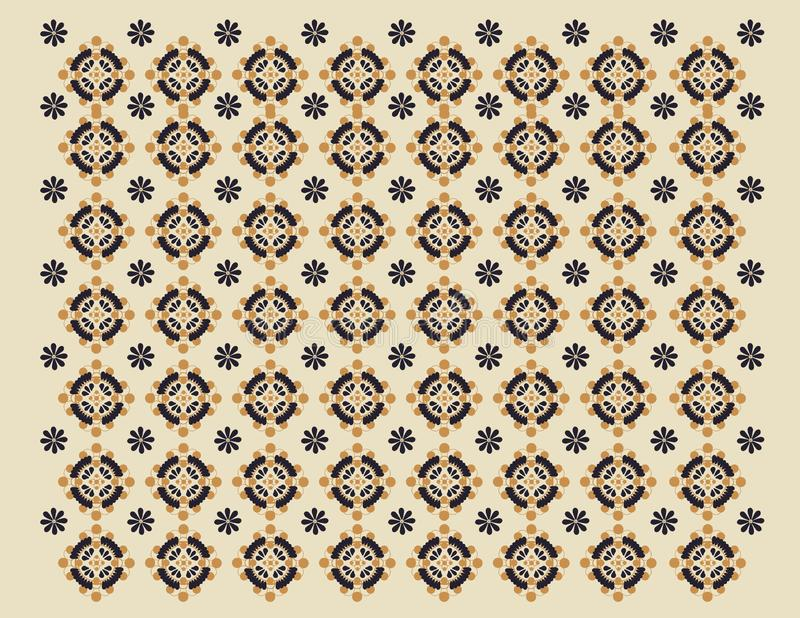 Koloniaal patroon 1 vector illustratie