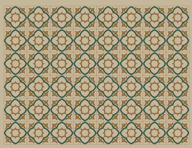 Koloniaal patroon 2 stock illustratie
