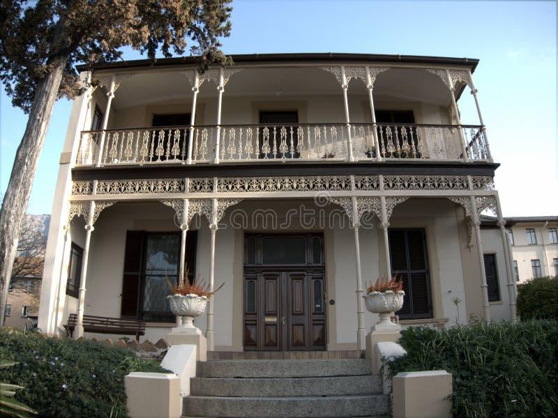 Koloniaal stijlhuis royalty-vrije stock afbeelding