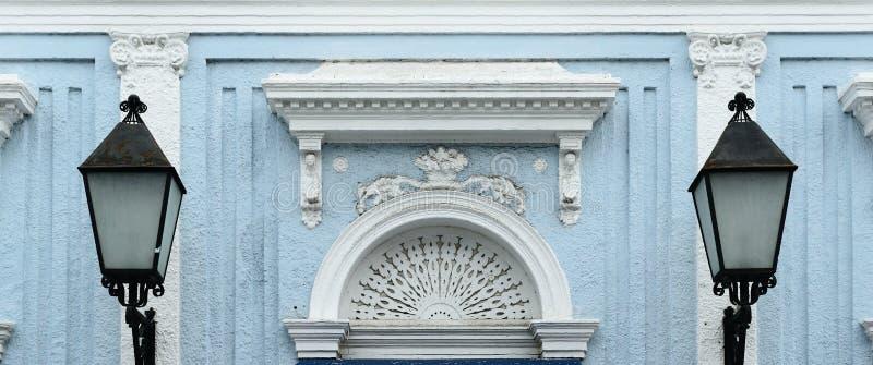 Kolonial arkitektur i Santiago de los Caballeros royaltyfri fotografi