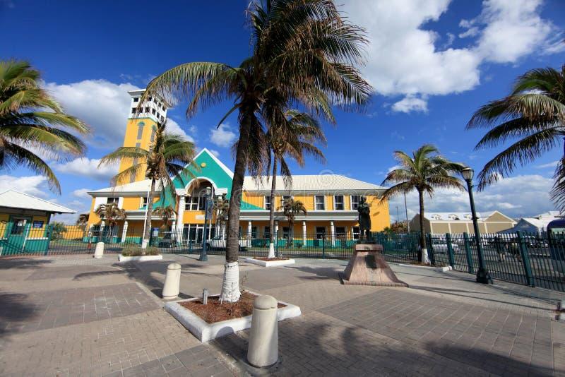 Kolonial arkitektur, Nassau, Bahamas fotografering för bildbyråer