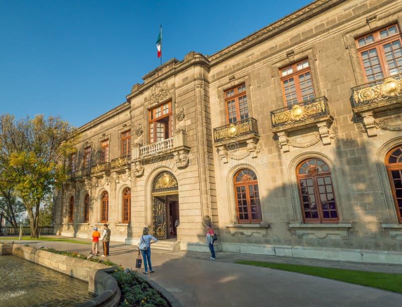Kolonial-Chapultepec-Schloss, Ansichten, Hügel, Park lizenzfreies stockbild