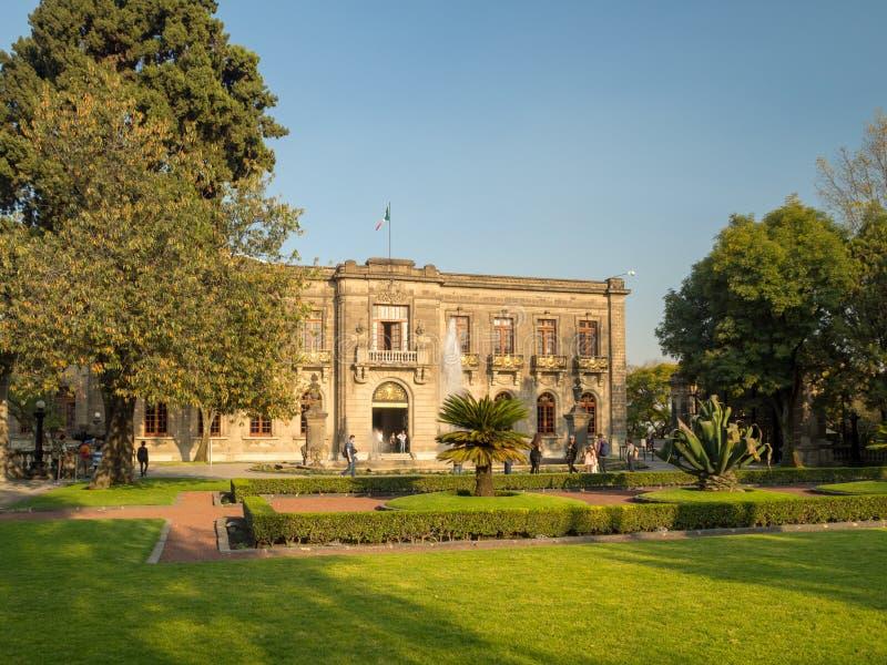 Kolonial-Chapultepec-Schloss, Ansichten, Hügel, Park stockbilder