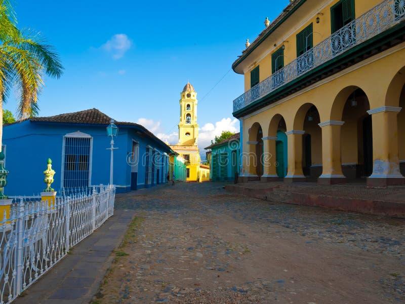 kolonial cuba town trinidad arkivbild
