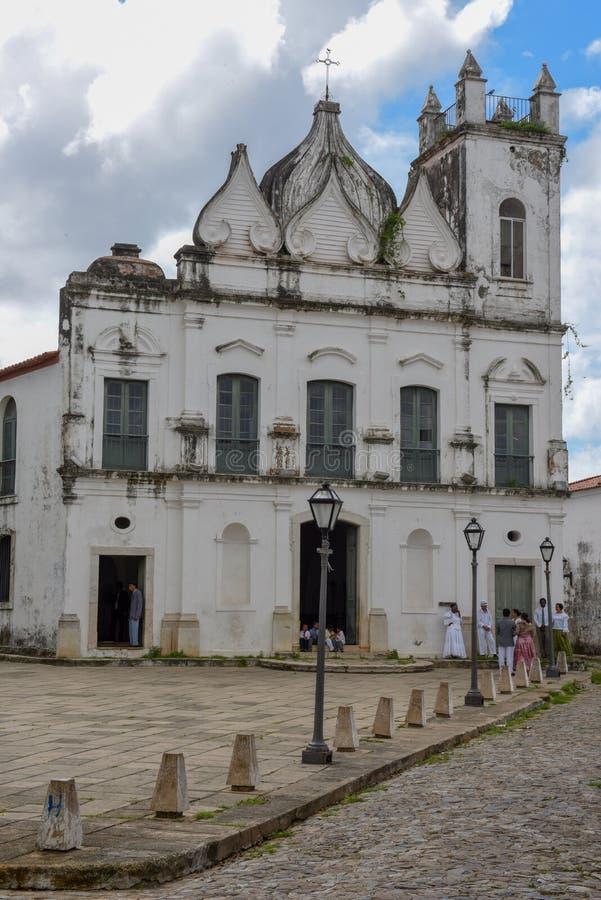 Kolonial kyrka p? Sao Luis p? Brasilien royaltyfria foton