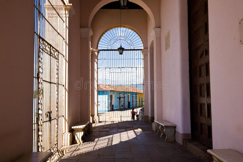 Kolonialarchitektur, Trinidad, Kuba lizenzfreies stockfoto