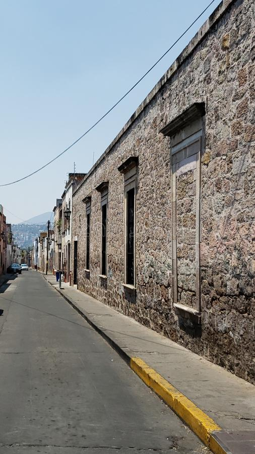 Kolonialartarchitektur in der Stadt von Morelia, Mexiko lizenzfreies stockbild