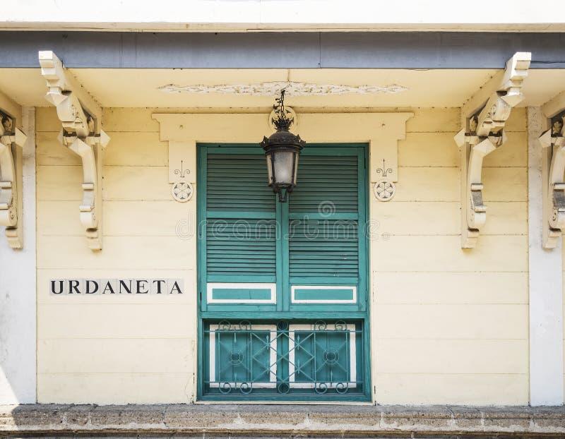 Koloniale architectuur in intramuros oude stad van Manilla philippin royalty-vrije stock foto