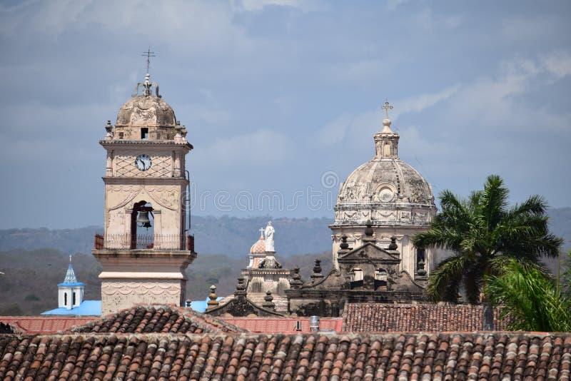 Koloniale Kerk - Granada Nicaragua stock afbeelding
