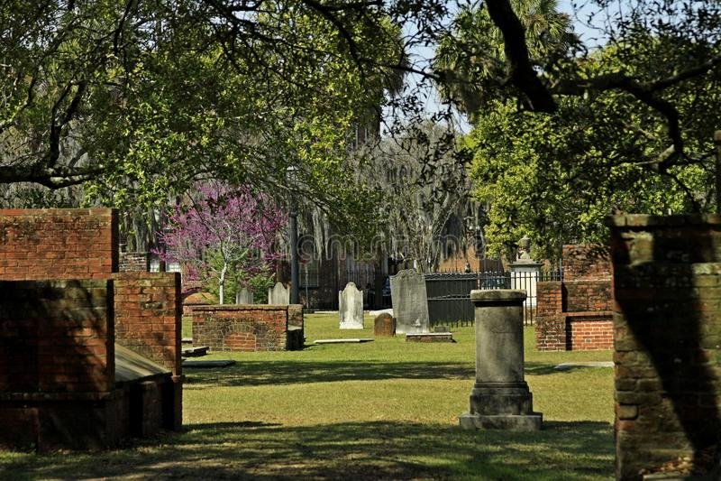 Koloniale Parkbegraafplaats stock afbeeldingen