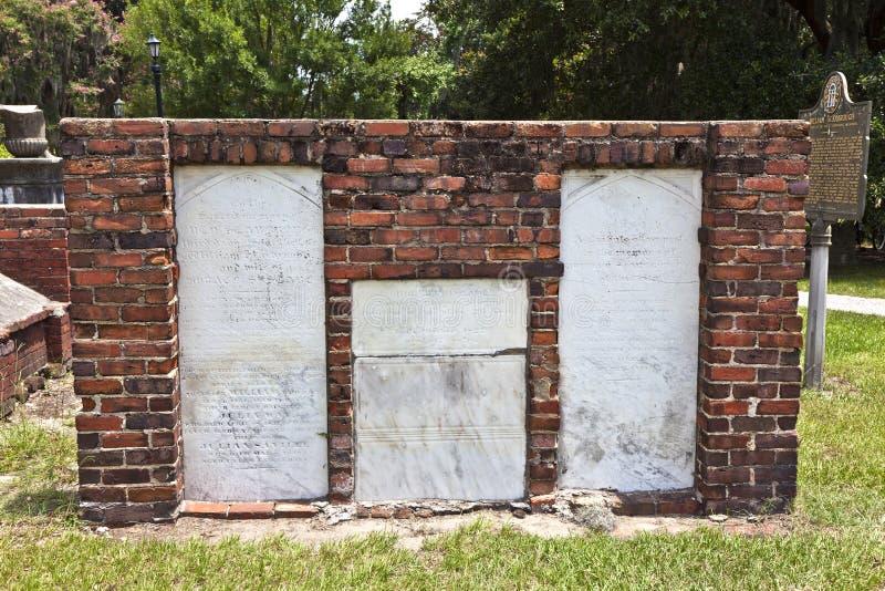 Koloniale Parkbegraafplaats in Savanne stock foto's