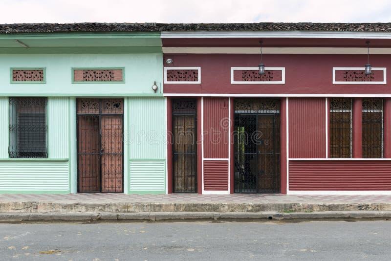 Koloniale stad van Leon in noordelijk Nicaragua royalty-vrije stock afbeelding