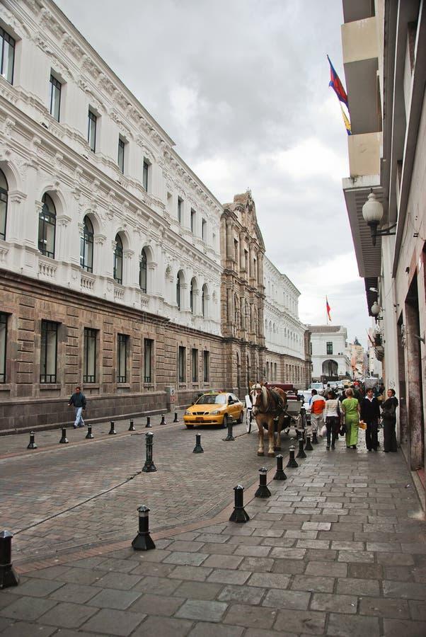 Koloniale straten van Quito royalty-vrije stock afbeeldingen