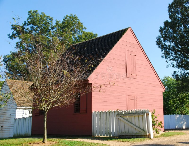 Koloniale Williamsburg stock foto's