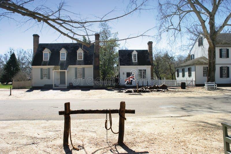 Koloniale Williamsburg royalty-vrije stock foto's