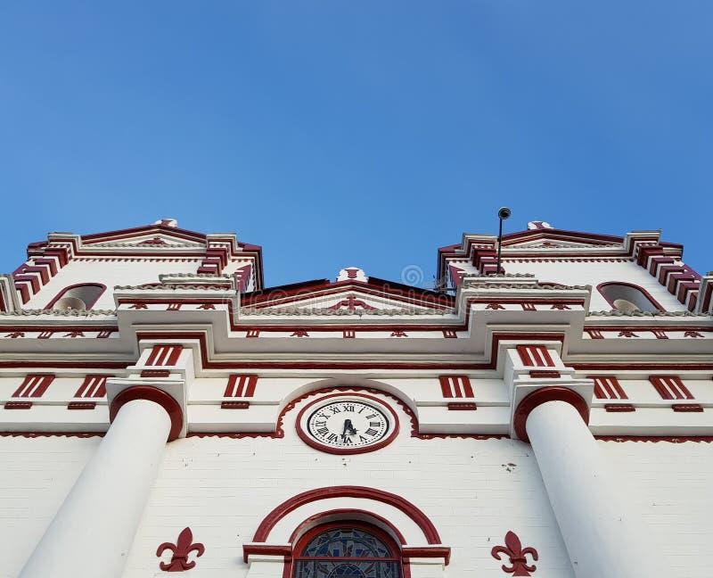 Kolonialkirche stockbild