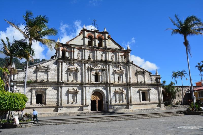 Kolonialkirche Panajachel Atitlan See Guatemala stockfotos