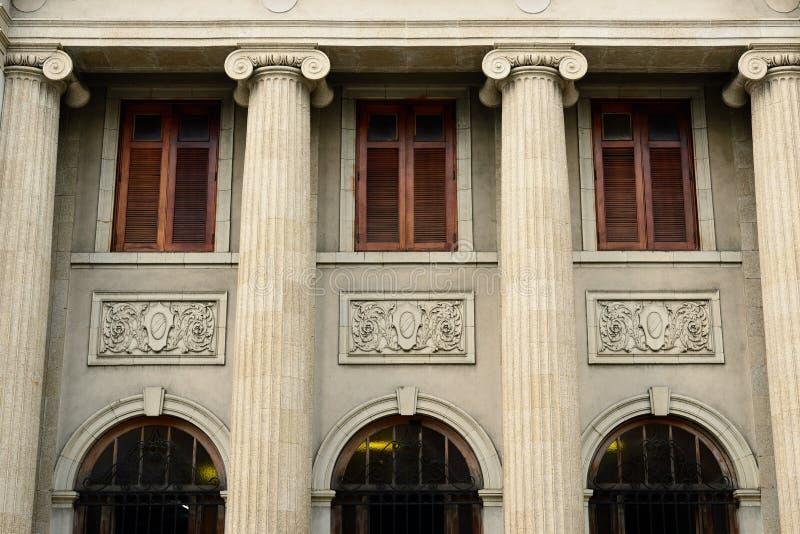 Kolonialna architektura w Santiago De Los Caballeros obrazy royalty free