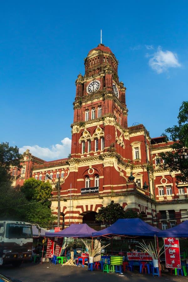 Kolonialna architektura w Yangon Myanmar zdjęcia stock