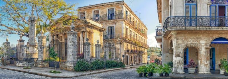 Kolonialni budynki w Stary Hawańskim zdjęcia royalty free