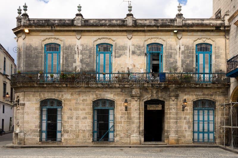 Kolonialni Hiszpańscy budynki w Hawańskim, Kuba zdjęcie stock