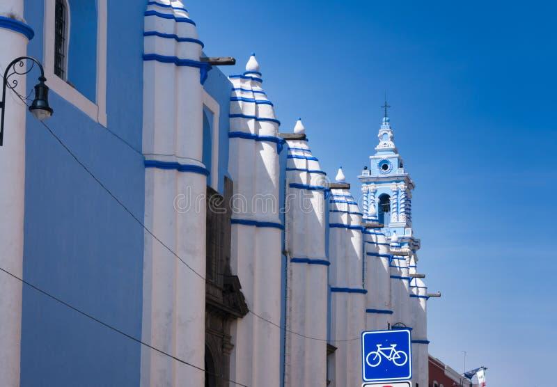 Kolonialny barokowy kościół katolicki w Puebla, Meksyk zdjęcie royalty free