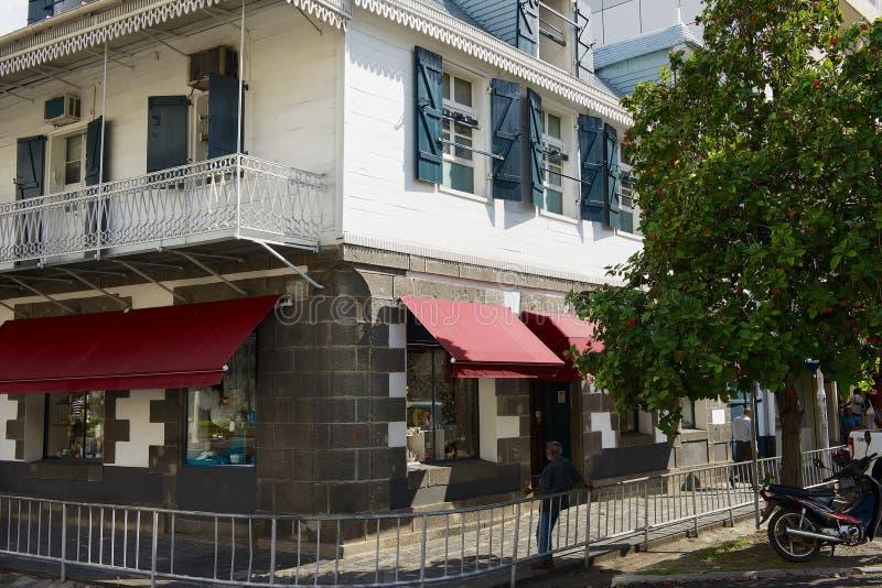 Kolonialny budynek w w centrum Port Louis, Mauritius wyspa zdjęcia stock