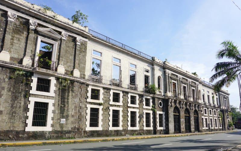 Kolonialny budynek wewnątrz Intramuros zdjęcie stock
