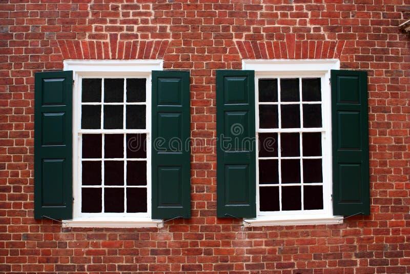 kolonialnych okno zdjęcie royalty free