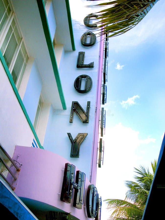 Kolonihotell Miami arkivfoton