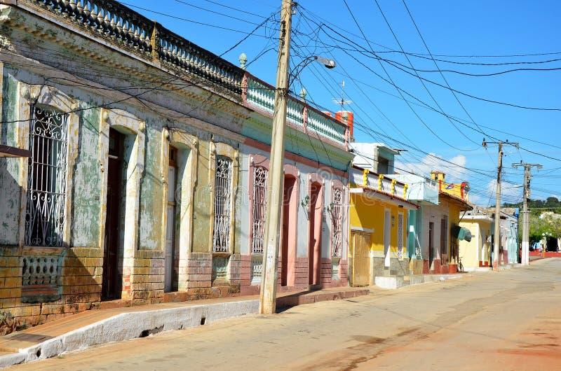 Koloniinvånare Trinidad, gamla gator, Kuba arkivbilder